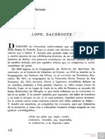 Oliver Belmás, Antonio, Lope Sacerdote