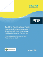 Full Report Tackling Structural and Social Issues to Reduce Inequities in Childrens Outcomes in Low to Middle Income Countries