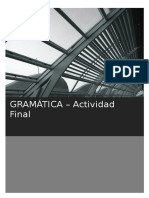 Curso para Perfeccionamiento de Profesores de ELE-GRAMÁTICA (Actividad Final)
