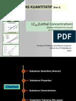 [5] BahanKuliah Ekotoksikologi LC50(LethalConcentration) 2010