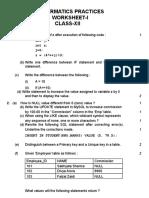 IP Worksheet-1 (XII)