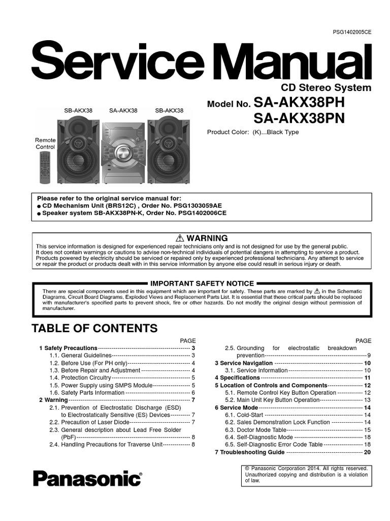 SA-AKX38PH_AKX38PN (sm-PSG1402005CE).pdf | Electrostatic Discharge ...