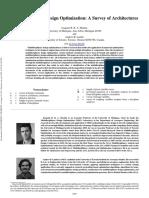 Multidisciplinary Design Optimization a Survey of Architectures