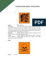 Simbol-simbol Berbahaya Bahan Bahan Kimia