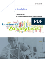 SCM Analytics 22 Oct 2016