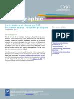 Bibliographie Litterature en Classe de Fle 2