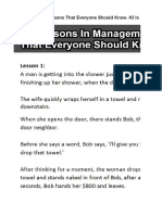 6 Lessons of Management