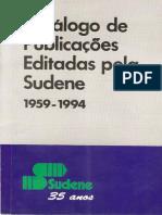 Catalogo de Publicações SUDENE