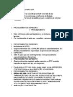 Procedimentos Especiais Parte I