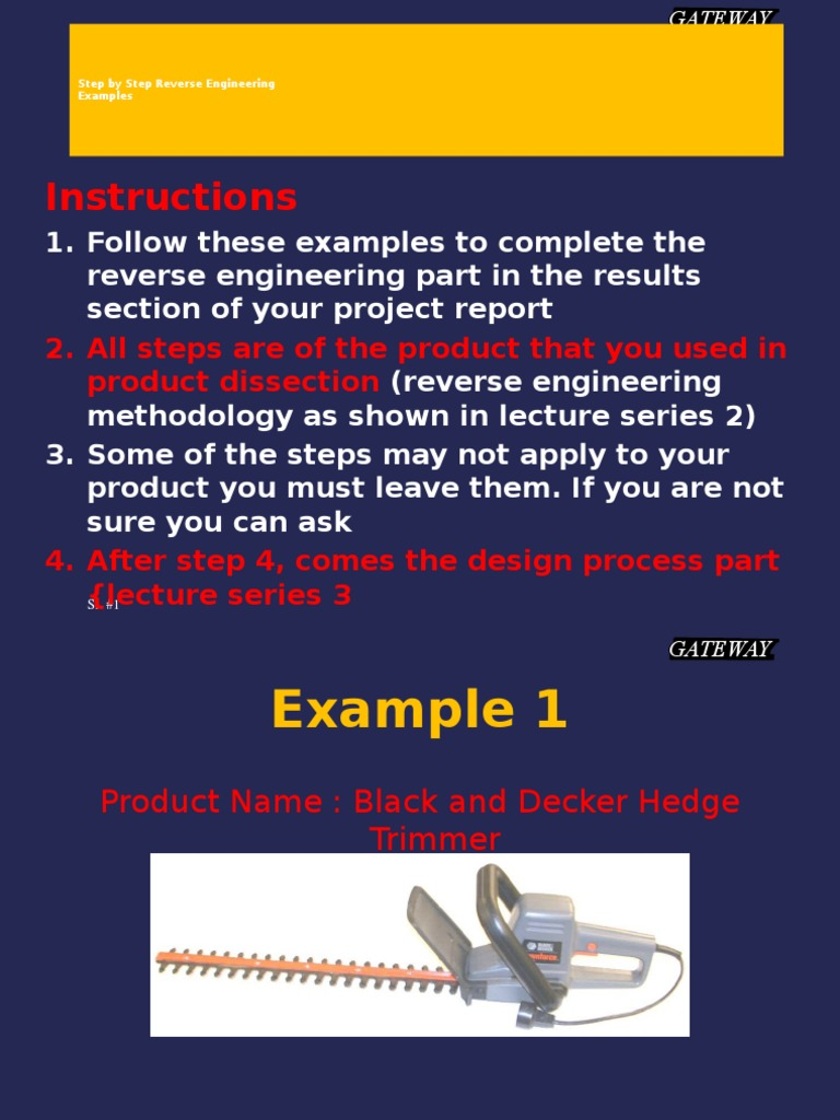 engineering methodology examples