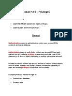 Module 14-2 – Privileges