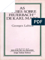 As Teses Sobre Feuerbach de Karl Marx - Georges Labica