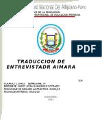 Traduccion de Aymara