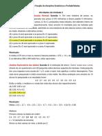 Atividades Fixação Estatistica e Probabilidade - Unidades 2 a 4