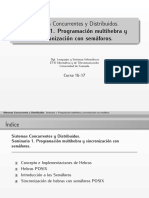 Programacion multihebra y semaforos