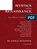 Mystics of the Renaissance and Their Relation to Modern Thought - Rudolf Steiner