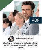 Certificación Internacional en Adobe InDesign CC 2015