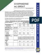 Grout Cement Data Sheet