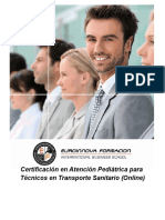 Certificación en Atención Pediátrica para Técnicos en Transporte Sanitario (Online)