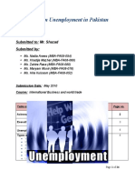 Final Report of Unemployment