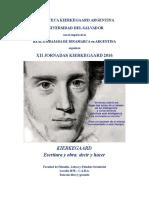 Programa Jornadas Kierkegaard 2016 (Coordinadores)