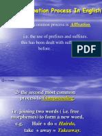 Wordformation Process in English