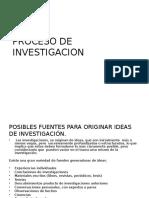 El Proceso de La Investigacion