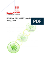 SIMCom 3G MQTT Application Note V1.00