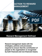 Introduction to reward Management