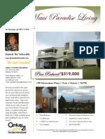 Kula Maui Hawaii 3br  2 ba on 1/2 acre Price reduced another 30K!