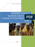 Seminar on Juvenile Justice Child Marriage in India