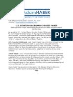 U.S. Senator Gillibrand Chooses Haber