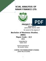 Financial Analysis of Sundaram Finance Ltd.