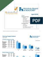 April 2010 Oahu Hawaii Housing Outlook