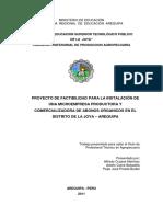 Proyecto de factibilidad para la producciòn y comercializacion de abonos organicos