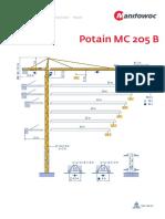 Grua Potain MC205B