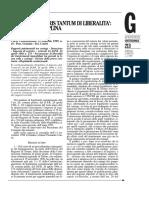 Petrelli - Presunzione Iuris Tantum Di Liberalità - 1999