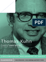 Nickles, T. (2003) Thomas Kuhn Contemporary Philosophy in Focus