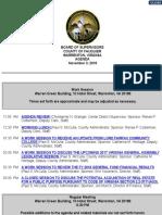 Fauquier board of supervisors Nov. 3, 2016, agenda
