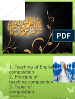 Elt teaching of English composition , principles and its types