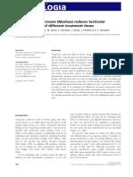 Tropaeolum tuberosum (Mashua) reduces testicular function
