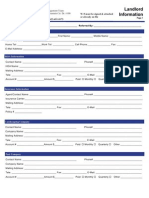 Landlord Information Sheet