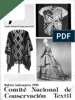 Boletin Comité Nacional de Conservación Textil 1990