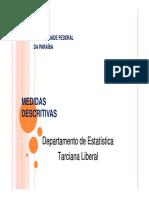 Aula 4 Medidas Dispersão