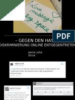 """rC16 """"Gegen Den Hass"""" Jasna Lisha Strick"""