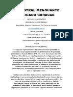 Menestral Menguante Abogado Caracas