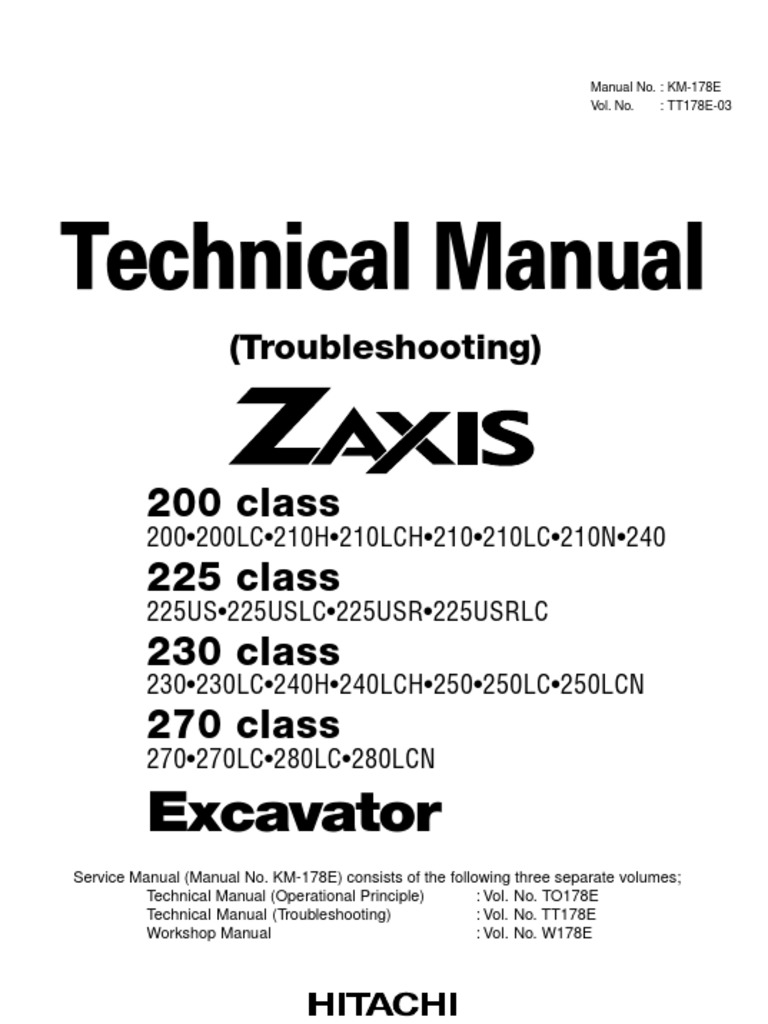 Technical manual troubleshooting of zx 200 225 230 270 class technical manual troubleshooting of zx 200 225 230 270 class personal protective equipment welding fandeluxe Images