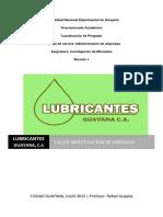 Lubricantes Guayana, Taller Inv Mercado