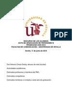 Discurso de Fin de Carrera - Periodismo B - Sevilla 2010