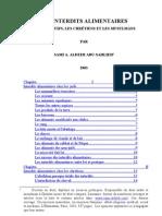 French - Interdits Alimentaires Chez Juifs Chretiens Et Musulmans 2003